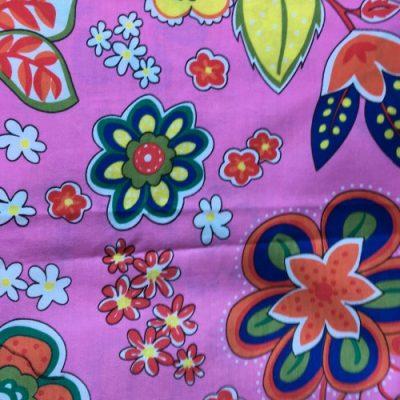 Katoen multicolor bloemen mondmasker mondkapje