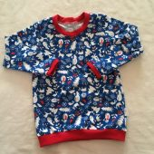 Sneeuwman t-shirt met kerst GOTS