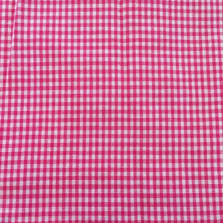 Stof mondkapje kleine roze ruit